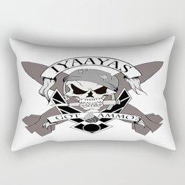Ammo Skull Design Rectangular Pillow