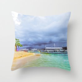 Arrival at Cowrie Throw Pillow