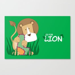 L is for Lion.. Canvas Print