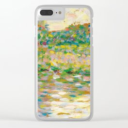 """Georges Seurat """"The Seine at Courbevoie"""" Clear iPhone Case"""