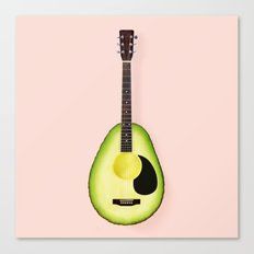 AVOCADO GUITAR Canvas Print