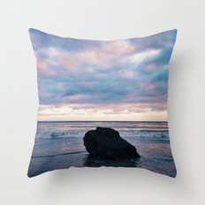 Sunset at El Pescador Beach Throw Pillow