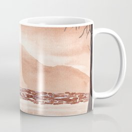 Monochromatic Landscape Painting Coffee Mug