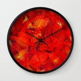 Early Morning Orange Lilies Wall Clock