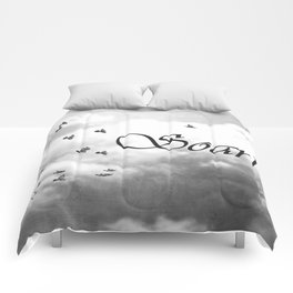 Soar Birds in Flight A610BW Comforters