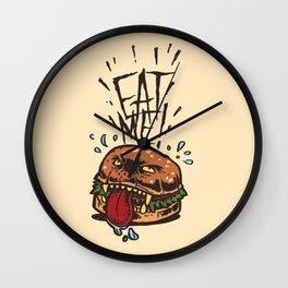 Food Rage-Burger Wall Clock