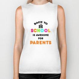 Funny Back to School art for Mom, Dad & Parents Light Biker Tank