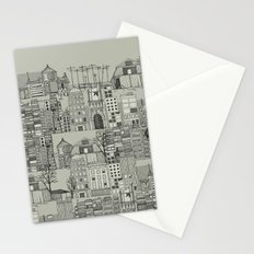 dystopian toile mono Stationery Cards
