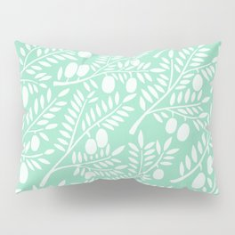 Mint Olive Branches Pillow Sham
