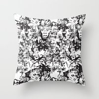 community Throw Pillows featuring Community Blowback by InariRaith