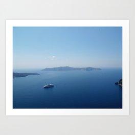 Blue greece Art Print