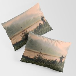 The Fly Fisherman With His Loyal Friend Pillow Sham