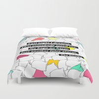 the smiths Duvet Covers featuring The Smiths by Adrian Roman