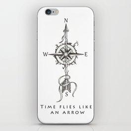 Time flies like an arrow (tattoo style) iPhone Skin