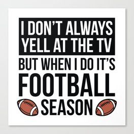 Football Season Canvas Print
