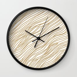 Metallic Wood Grain Wall Clock