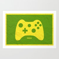 xbox Art Prints featuring Xbox (Control Series) by emlem