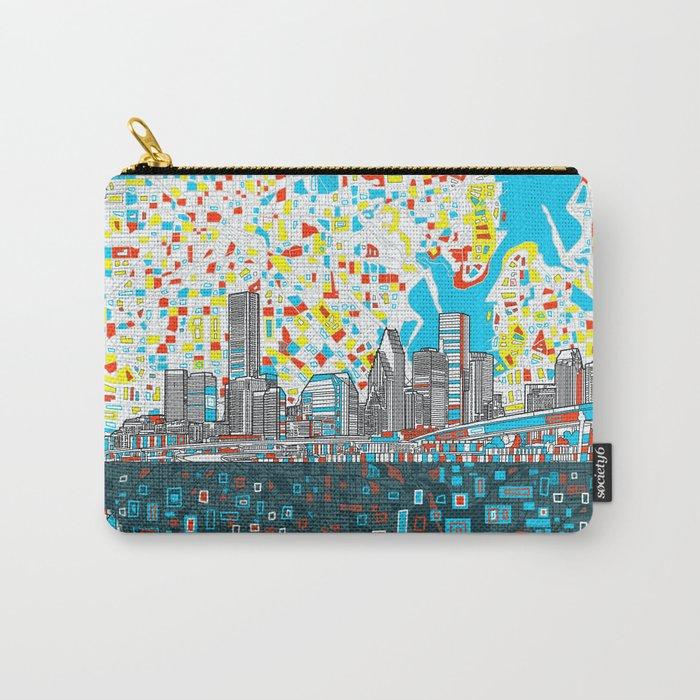 houston city skyline Carry-All Pouch
