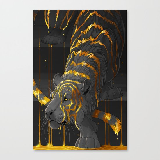 molten tiger Canvas Print
