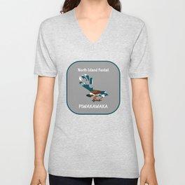 Piwakawaka | Fantail | New Zealand bird Unisex V-Neck
