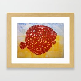 Flat Fish Framed Art Print