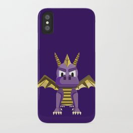 Spyro vector character fanart iPhone Case