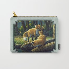 Red Fox Pups Playing Carry-All Pouch