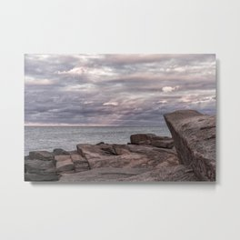 Around Sunset at Halibut Point Metal Print