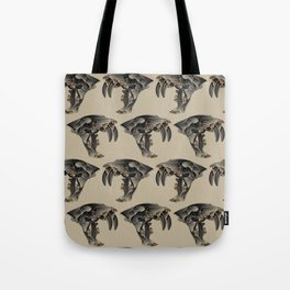 Ancient Warrior (Sabertooth Skull) Tote Bag