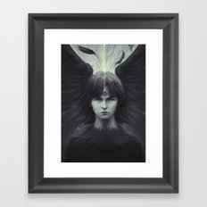 Eye of Raven Framed Art Print