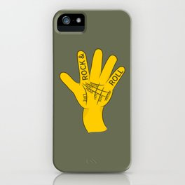 Palmistry Rock and Roll iPhone Case