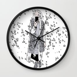 kaa on white Wall Clock