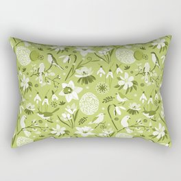Finally Easter! [mono green] Rectangular Pillow