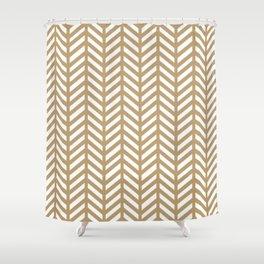 Herringbone - Gold Shower Curtain
