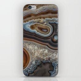 Mocha swirl Agate iPhone Skin
