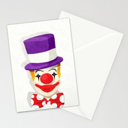 Smiling clown Stationery Cards