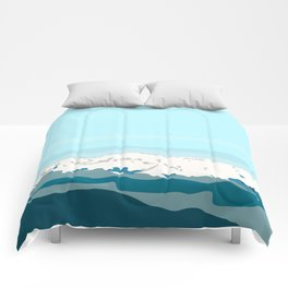 A first look to the cold mountain Comforters