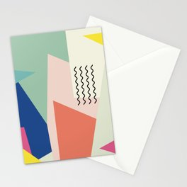 Shapes and Waves Stationery Cards