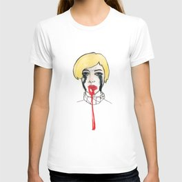 Pain - the look when you are mentally stress out - to death. T-shirt