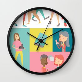 People Panel Wall Clock
