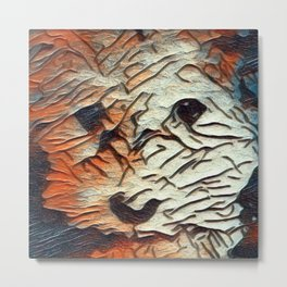 Copper the Havapookie Art Metal Print