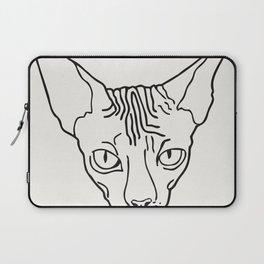 Sphynx Cat Poster Sphinx Cat Art Hairless Cat Gift Kitty Cat Lover Gift • New Cat Lady Print Sterlin Laptop Sleeve