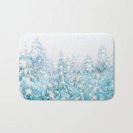 Snowy Pines Bath Mat