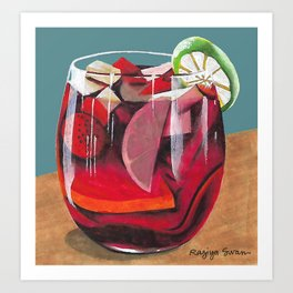 Fruit cocktail Art Print