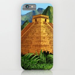 Elegant EL DORADO, City of Gold discovering - Digital painting + Collage iPhone Case