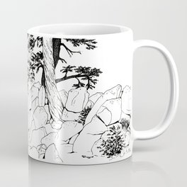MOFFITT CABIN, Travel Sketch by Frank-Joseph Coffee Mug