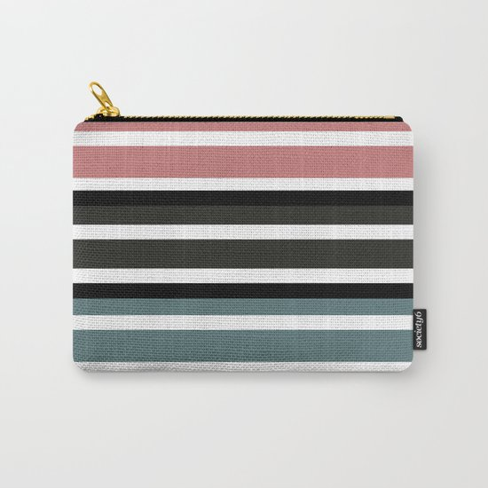 Simple colorful striped pattern . 3 Carry-All Pouch