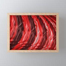 Fiery Red Fractal Abstract Modern Art Framed Mini Art Print