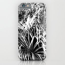 Palm Fronds In Black and White Abstract Photography iPhone Case