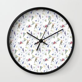 I wanted flowers but you gave me triangles Wall Clock